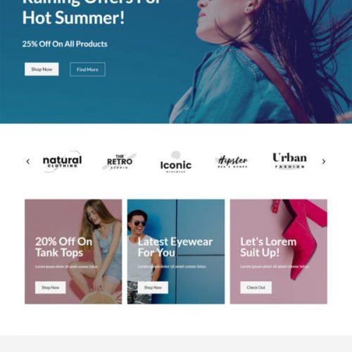 Thiết kế mẫu web báng hàng